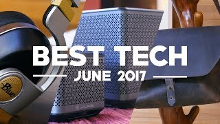 """The June installment of """"Best Tech."""" While we typically focus on smartphones, our """"Best Tech"""" series expands our scope of interest and lets us to take a look at the various devices our smartphones can control. Which device is your favorite?JLab Block Party Speaker: http://amzn.to/2trd20KJLab House Party Speaker: http://amzn.to/2u0IDTRMaverick Messenger Bag: https://www.sfbags.com/products/maverick-leather-laptop-messenger-bagBlue Microphones Satellite Wireless Headphones: http://amzn.to/2tmLskIXiaomi Mi 360 Camera: http://www.gearbest.com/action-cameras/pp_651543.html?wid=4&lkid=10914603Check out Beau HD's personal channel: http://goo.gl/E5iM4NPhoneDog: http://www.PhoneDog.comTwitter: http://twitter.com/PhoneDogFacebook: https://www.facebook.com/phonedogGoogle Plus: https://plus.google.com/+phonedogInstagram: http://instagram.com/phonedog"""