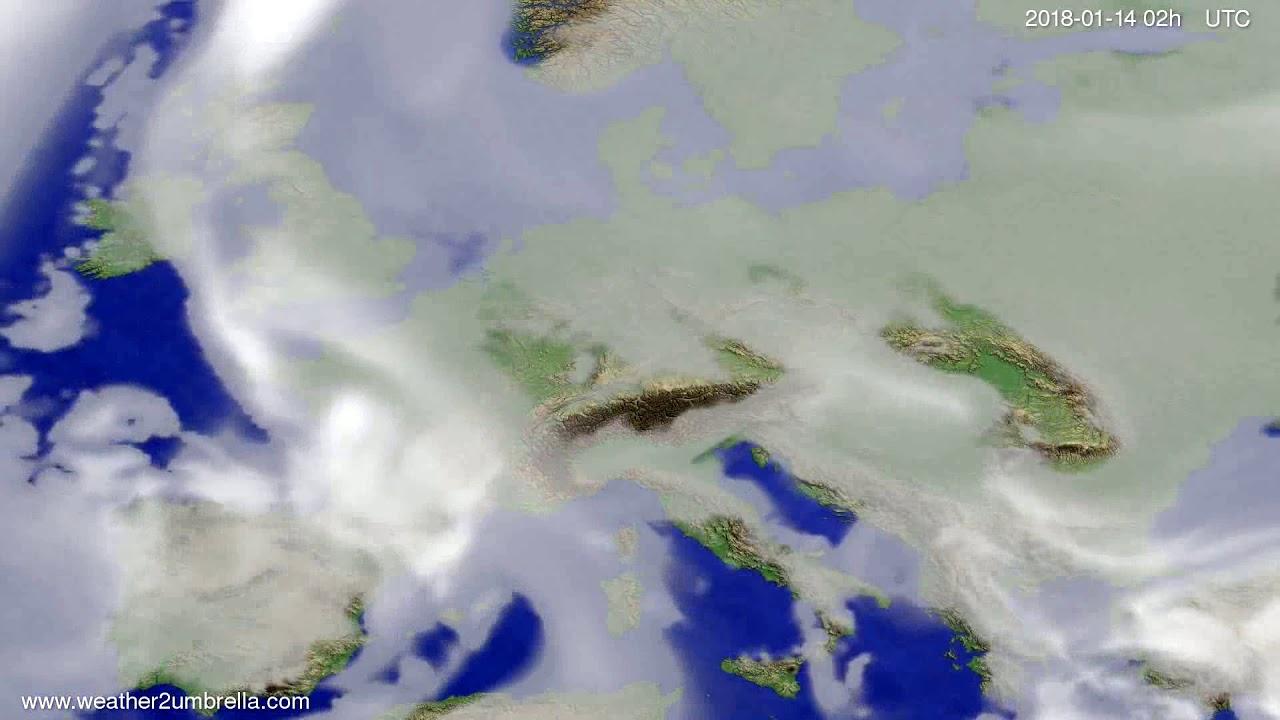 Cloud forecast Europe 2018-01-10