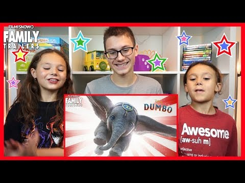 Dumbo Trailer Reaction | D-three Kids React To Dumbo 2019