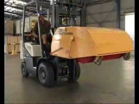 The KDE Forklift Sweeper is the strongest, durable, most trouble-free sweeper in the world.