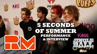 See more performances/interviews from Z100's Jingle Ball at: http://www.realmagictv.comThis quick glimpse of Z100's Jingle Ball spotlights  5 Seconds of Summer on stage and behind the scenes at Madison Square Garden.Real Magic TV has all of the high-definition interviews and performances from New York City's hottest concert of the year: Z100's Jingle Ball 2014. Go backstage and in the front row at Madison Square Garden, featuring appearances and performances from Maroon 5, Ariana Grande, Sam Smith, Iggy Azalea, Pharrell, 5 Seconds of Summer, Calvin Harris, Taylor Swift, OneRepublic, Jessie J, Meghan Trainor, Charli XCX, Shawn Mendes, Rita Ora, Rixton, Nick Jonas, Sarah Jessica Parker, Emma Roberts, Elvis Duran, and Ryan Seacrest at this year's mega event.You can interact with all of the artists by submitting questions for them for future Real magic TV tapings. Check out the individual artist profile pages on the official Real Magic TV site.