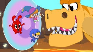 Video Morphle's Magic Portals - Magic Adventures with Friends (Fantasy Race cars and dinosaurs for Kids! MP3, 3GP, MP4, WEBM, AVI, FLV Juli 2018
