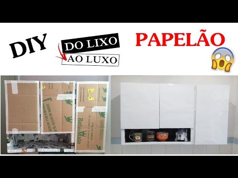 [DIY] ARMÁRIO DE PAPELÃO PARA COZINHA   Parte 2 | Polly Peçanha