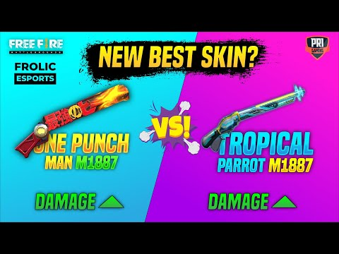All New One Punch Man M1887 Vs Tropical Parrot M1887 | Best M1887 Skin in Freefire | Garena Freefire