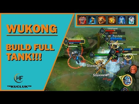 WUKONG BUILD FULL TANK! - Arena of Valor