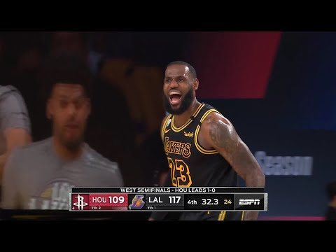 LeBron James hits the turnaround fadeaway putting the Lakers up by 8   Game 2   Lakers vs Rockets