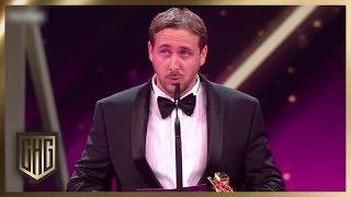 (2/2) Subtitled: #GoslingGate: Fake Ryan Gosling Prank | Goldene Kamera 2017 | Circus HalliGalli
