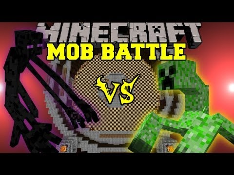 Mutant Enderman Vs. Mutant Creeper - Minecraft Mob Battles