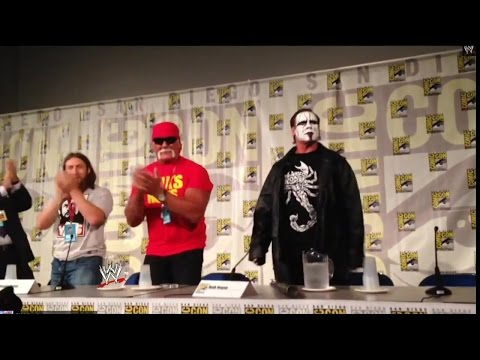 comic con - Sting makes a surprise appearance at San Diego Comic Con 2014 following the announcement of his new WWE Mattel Action Figure.