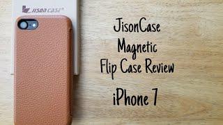 Jisoncase magnetic flip case review - iPhone 7