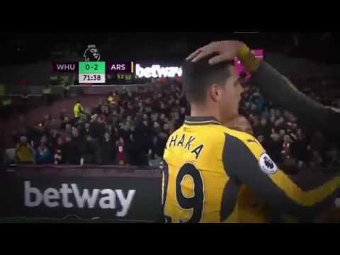 Goal Alexis Sanchez ARSENAL vs WEST HAM UNITED 2-0 All Goal & Highlights 03-12-2016