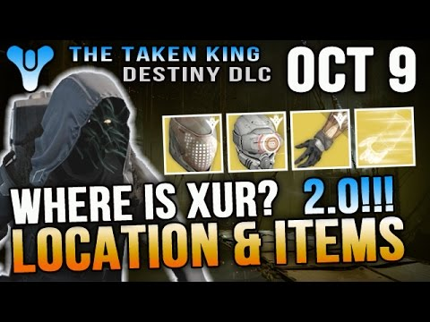 Xur Location October 9 2015 Destiny Where is Xur 10/9/15 Gauntlet Engrams