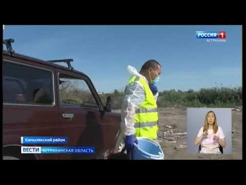 Управлением Россельхознадзора выявлена несанкционированная свалка на землях сельскохозяйственного назначения в Астраханской области