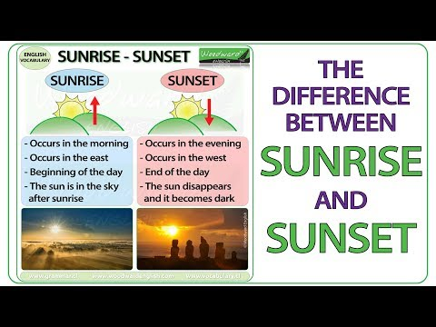 Sunrise vs. Sunset - What is the difference?