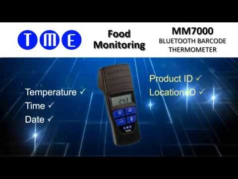 MM7000 - ThermoBarScan Thermometer with Bar Code reader