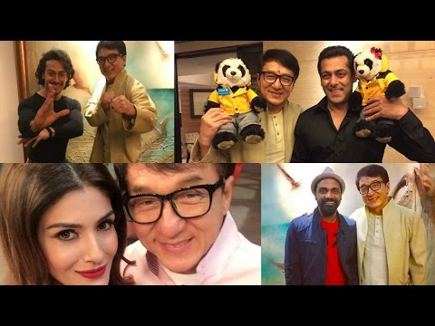 Salman Khan, Kangana Ranaut And Remo D'souza Visit Jackie Chan In Mumbai