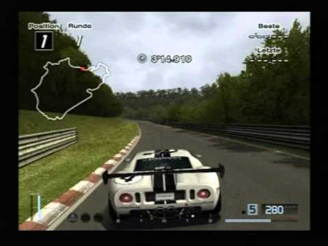Gran Turismo 4 - Ford GT Nordschleife Nurburgring HUD