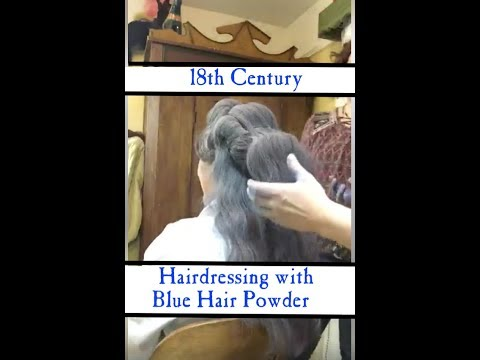 Hairdresser - FBLIVE: Blue Hair Powder - Quick Hairdressing 1778 Hairstyle I  LBCC Historical Apothecary