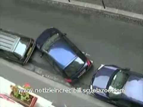 incredibile tecnica di parcheggio!
