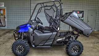 1. 2017 Honda Pioneer 700 Deluxe Walk-Around Video | Diver Blue | Review @ HondaProKevin.com