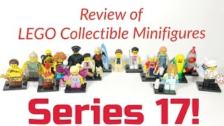 My Review on All 16 of the LEGO Collectible Minifigures SERIES 17. Plus a few tips on how to feel for the particular ones you're looking for.Help support this channel and visit my Bricklink store. Here's the link: http://www.bricklink.com/store/home.p...Don't hesitate to follow me on Instagram: https://www.instagram.com/coolkidbricksLEGO® is a trademark of the LEGO Group of companies which does not sponsor, authorize or endorse this site.
