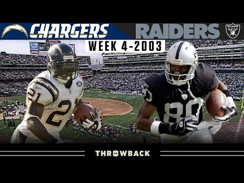 Legends Young & Old Clash! (Chargers vs. Raiders 2003, Week 4)