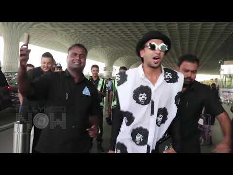 Ranveer Singh DANCE And RAPS At Mumbai Airport
