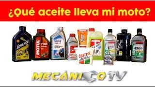 6. Aceite para tu moto / Especificaciones / Tipo de aceite