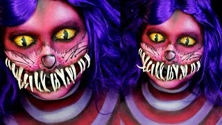 Cheshire Cat Halloween Makeup Tutorial | Jordan Hanz | Alice in Wonderland