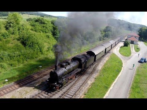 Trains From The Air –  steam train w sound-Dampflok Luftaufnahmen