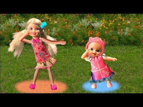 Мультик Барби Мама и Люси: Челси преподала урок детям с площадки куклы для девочек Barbie dolls toys (видео)