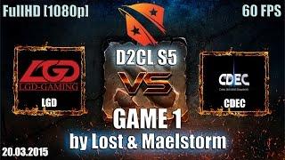 LGD.cn vs CDEC, game 1