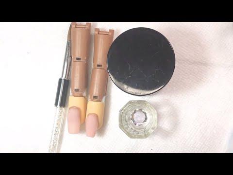 Uñas acrilicas - Tecnica de 3perlas en uñas acrílicas para principiantes