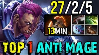 Video This is How Top 1 DotaBuff [Anti-Mage] Farm 930+GPM 27Kills by paiN.hFn | Dota 2 FullGame MP3, 3GP, MP4, WEBM, AVI, FLV Desember 2018
