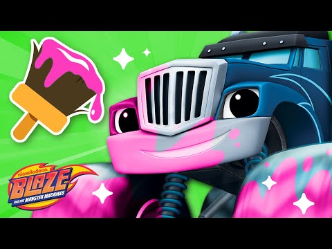 Makeover Machines #3 w/ Blaze & Crusher! | Blaze and the Monster Machines