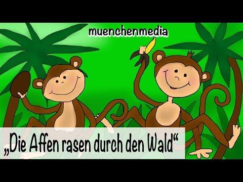Kinderparty Musik - Die Affen rasen durch den Wald - Kinderlieder deutsch | muenchenmedia