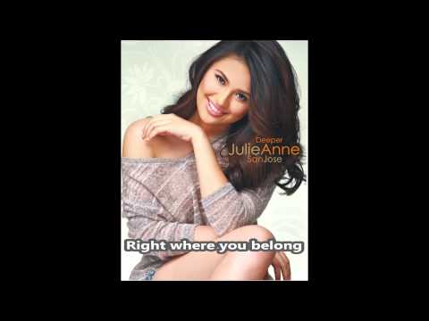 Julie Anne San Jose | Right Where You Belong | minus-one