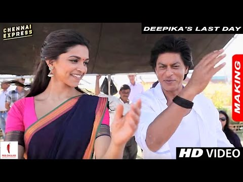 Deepika's Last Day - On the Sets of Chennai Express with Shah Rukh Khan & Rohit Shetty