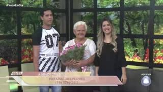Telespectadora vence concurso e ganha buquê para avó - VOCÊ EM DIA