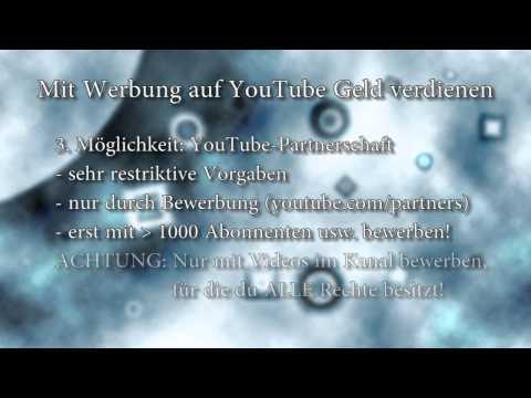 Mit Werbung auf YouTube Geld verdienen (Umsatzbeteiligung, Monetarisierung, YouTube-Partnerschaft)