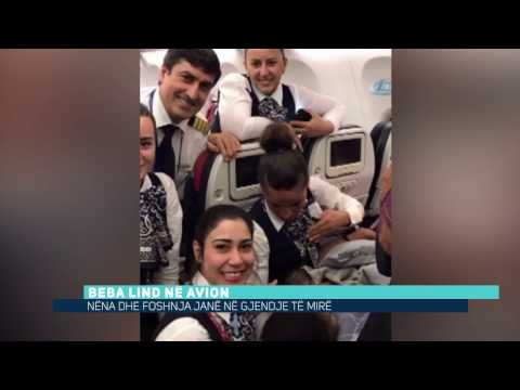 Beba lind në avion (Video)