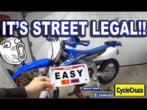My YZ450FX is Street Legal!   Make a Dirt Bike STREET LEGAL