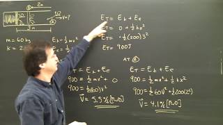 Physics Tutorial Lesson:  Elastic Energy Springs College High School Part 1