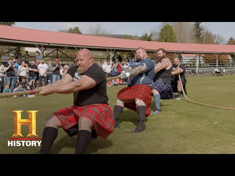 STRONGMEN VS. SCOTSMEN IN EPIC TUG-OF-WAR   The Strongest Man in History (Season 1)   History