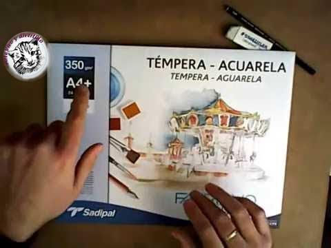 Acuarela conceptos b sicos y materiales necesarios para - Materiales para pintar ...