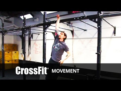 Hip - Adrian Bozman demonstrates the hanging hip touch from the hero workout Kevin. Kevin 3 rounds for time of: 185-lb. deadlifts, 32 reps 32 hanging hip touches, alternating arms 800-meter running...