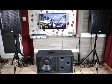 How To Build 18-inch PA subwoofer + sound & bass excursion test