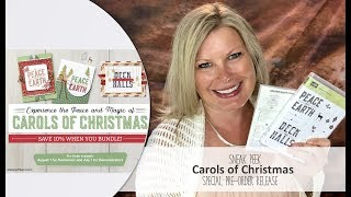 Details on my blog: http://stampwithtami.com/blog/2017/07/sneak-peek-carols-of-christmas-early-release-giveaway/During the month of August, you will have early access to one of our top-trending bundles from the upcoming holiday catalog! Plus, this special early release comes during our Bonus Days promotion—earn $5 coupons with July orders, then use them on the Carols of Christmas in August! OR get the stamp set free in the Demo Kit Special in July.Be sure to join my social media Tami WhiteStampin' Up! Independent Demonstrator✪ STAY CONNECTED ✪Blog: http://www.stampwithtami.com Facebook: http://www.facebook.com/stampwithtami1 Pinterest: http://www.pinterest.com/stampwithtamiPeriscope: https://periscope.tv/stampwithtamiTwitter: http://twitter.com/stampwithtami Weekly Newsletter: http://ow.ly/Vp8eb Bloglovin: https://www.bloglovin.com/blogs/stamp-with-tami-3137650