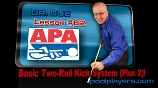 Dr. Cue Pool Lesson #62: Basic Two-Rail Kick System (Plus2)!