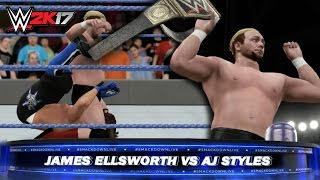 wwe-smackdown-live-2k17-james-ellsworth-wins-the-wwe-world-title